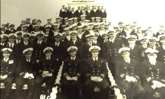 The crew of HMS Wellington on the New Zealand Station
